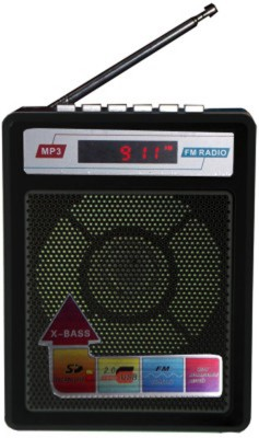 99Gems Landmark FM Portable/radio with USB/SD MP3 Player+Display FM Radio(Black)