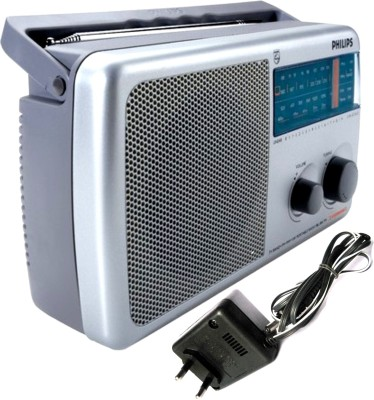 Philips RL384/40 with (AC Adapter) FM Radio(Silver)