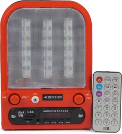 Bexton Rechargeable Multimedia Magic LED with USB/AUX/TF and Remote FM Radio