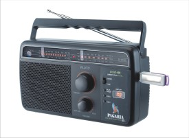 PAGARIA 5 Band, USB Support, Rechargeable Battery FM Radio(Black)