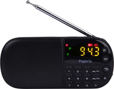 PAGARIA L837BT Portable Mp3 Player with Bluetooth,USB FM Radio(Black)