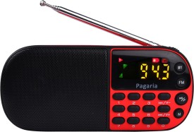 PAGARIA L837BT Portable Mp3 Player with Bluetooth,USB FM Radio(Red)