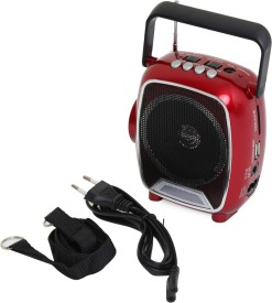 Soroo 1602 Rechargable Multimedia Speaker with USB and Torch - Dazzling Red FM Radio(Red, Black)