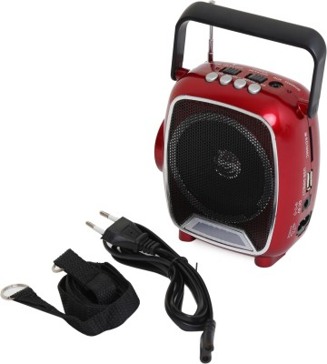 Soroo 1602 Rechargable Multimedia Speaker with USB and Torch - Dazzling Red FM Radio