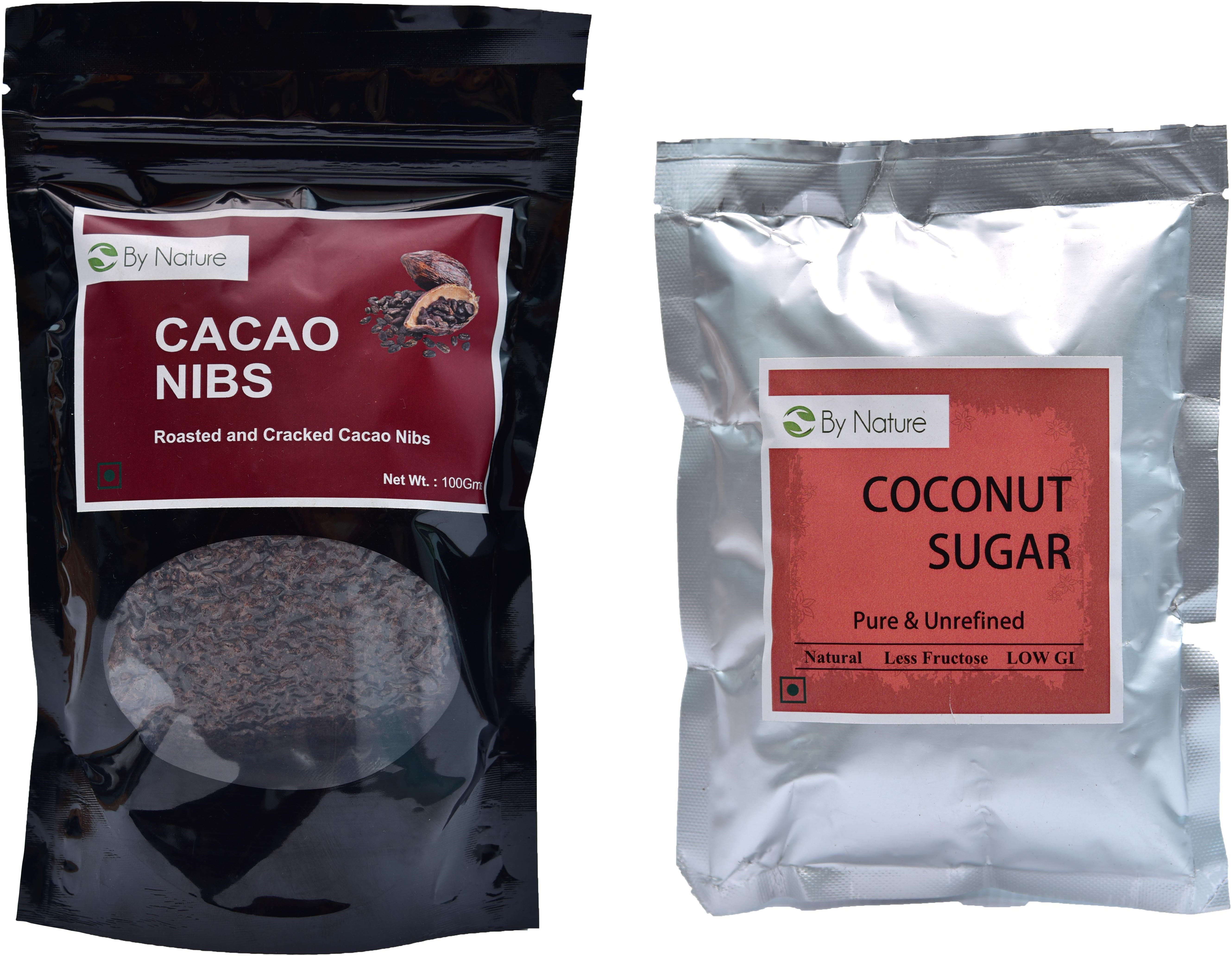 By Nature 1 Cacao Nibs, 1 Coconut Sugar Combo