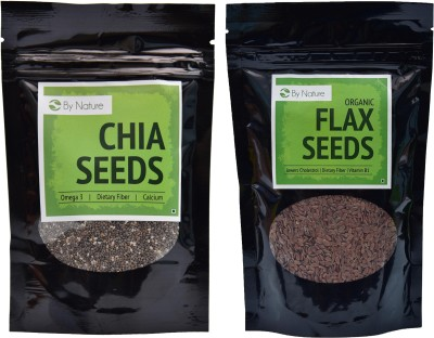 By Nature 1 Chia Seeds, 1 Flax Seeds Combo