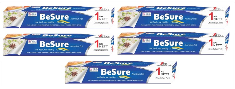 Besure Natural 1kg Pack Of 5 Aluminium Foil(85 m)