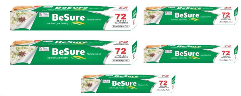 Besure Natural Refill 72m Pack Pack Of 5 Aluminium Foil(72 m)