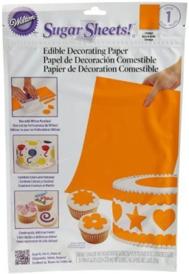 Wilton Solid Orange Sugar Sheet Aluminium Foil