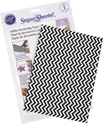 Wilton Black And White Chevron Sugar Sheets Aluminium Foil