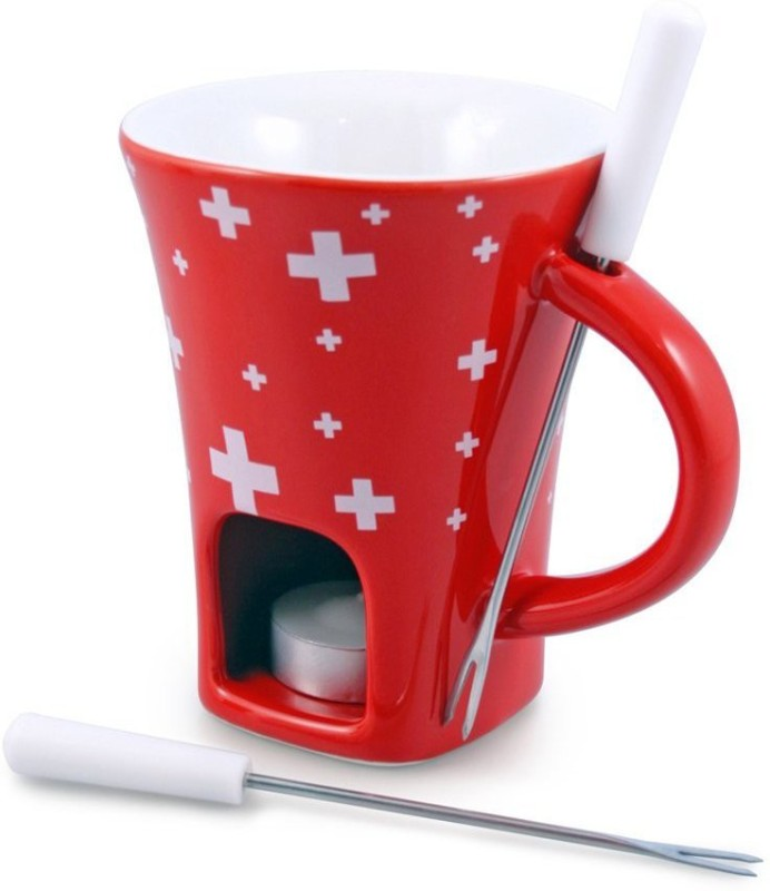 Swissmar Swissy Ceramic Fondue Set(Red)