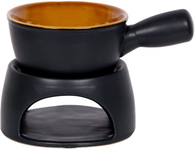 Shrih Portable Ceramic Fondue Set(Black)
