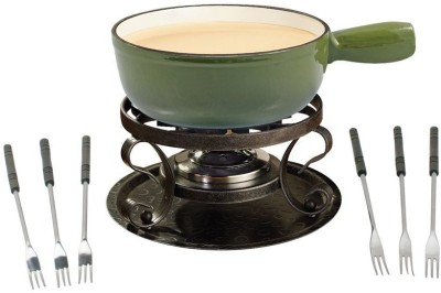 Swissmar Lugano Cast Iron Fondue Set(Green)