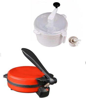 ECO SHOPEE COMBO OF EAGLE DETACHABLE RED ROTI MAKER WITH DOUGH MAKER Roti/Khakhra Maker
