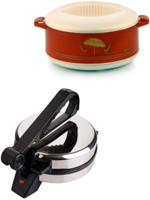 ECO SHOPEE COMBO OF NATIONAL ROTI MAKER WITH CASSEROLE Roti/Khakhra Maker