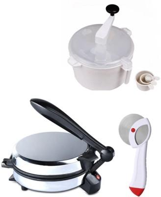 ECO SHOPEE COMBO OF DETACHABLE Roti- MAKER, DOUGH MAKER AND PIZZACUTTER Roti/Khakhra Maker