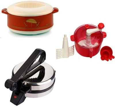 ECO SHOPEE COMBO OF EAGLE ROTI MAKER, CASSEROLE AND DOUGH MAKER Roti/Khakhra Maker(Silver) at flipkart