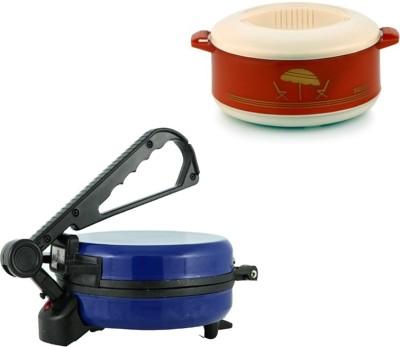 ECO SHOPEE COMBO OF EAGLE BLUE ROTI MAKER WITH CASSEROLE Roti/Khakhra Maker