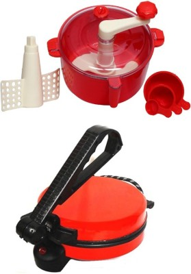 ECO SHOPEE COMBO OF RED ROTIMAKER WITH RED DOUGH MAKER Roti/Khakhra Maker