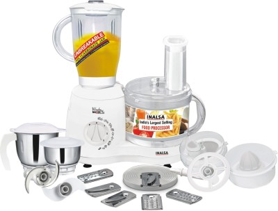 Inalsa Wonder Maxie Plus V2 700 W Food Processor(White)