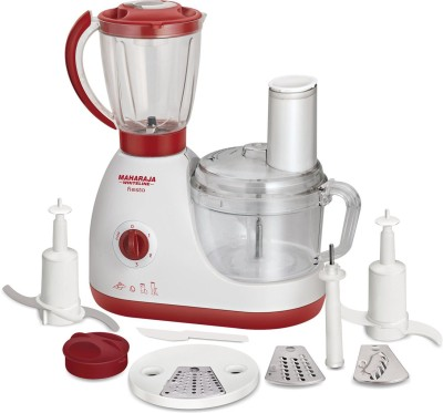 Maharaja Whiteline FIESTA 600 W Food Processor(Red, White)