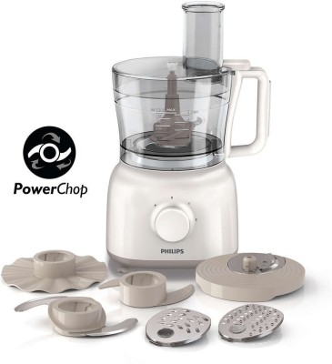 Philips HR7627 650 W Food Processor(White)