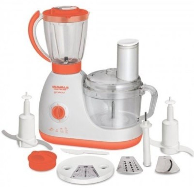 Maharaja Whiteline GLAMOUR 600 W Food Processor(White, Orange)