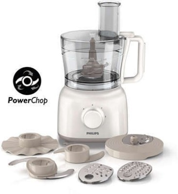 Philips HR-7627 650 W Food Processor(White)