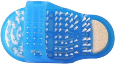 VibeX ® Easyfeet Pedicure Scrubber Massager Clean Blue Slippers Foot Brush(Blue)