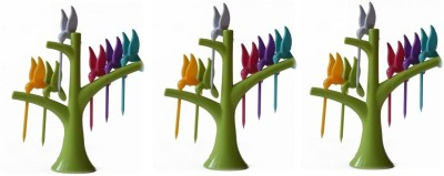 Houzfull Lovely Plastic Fruit Fork Set