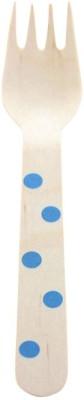 Funcart Polka Dot Cutlery Utensil Disposable Wooden Dessert Fork Set
