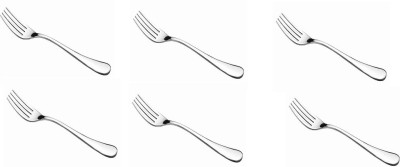 nationale Stainless Steel Table Fork Set(Pack of 6)