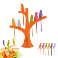 Dizionario Creative Birdie Stick 7 pc Disposable Plastic Fruit Fork Set
