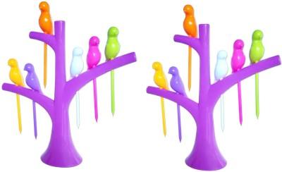 Dhawan Birdie Plastic Fruit Fork Set