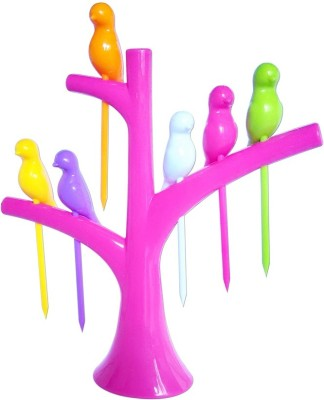 KKD Birds on Tree Plastic Fruit Fork Set