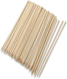 Shrih Bamboo Cocktail Party Sticks Disposable Wooden Roast Fork Set(Pack of 100)