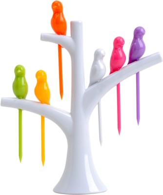 Absales Creative Birdies on a tree Disposable Plastic Fruit Fork Set at flipkart