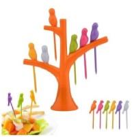 OMRD Birdie Plastic Fruit Fork Set