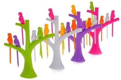 OMRD Birdie Plastic Fruit Fork Set Flipkart