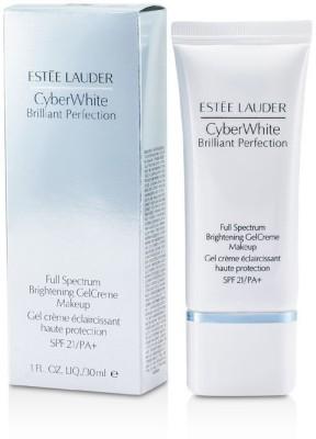Estee Lauder Cyber White Brilliant Perfection Full Spectrum Brightening Gel Creme Makeup SPF 21 Foundation