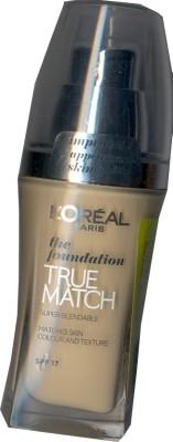L,Oreal Paris True Match Super Blendable  Foundation(Golden Ivory -D1- W1)