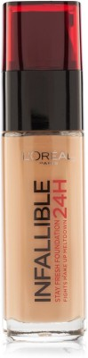 L,Oreal Paris Infallible Makeup Liquid  Foundation(Amber - 300)
