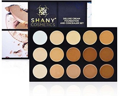 SHANY Cosmetics Professional Cream Foundation and Camouflage Concealer 15 Color Palette Foundation
