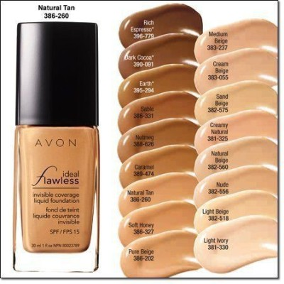 Avon Liquid Foundation Ideal Flawless Invisible Coverage Spf 15 Foundation