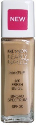 Revlon Nearly Naked Make Up Spf 20, 160 Foundation(Fresh Beige, 30 ml)