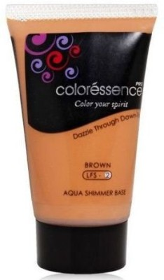 Coloressence Aqua shimmer base Brown (Pack of 2) Foundation