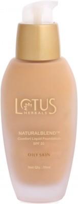 Lotus Natural Blend Comfort Liquid Spf-20 Oily Skin Foundation
