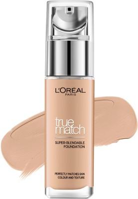 LOreal Paris True Match Foundation(D7W7 Golden Amber, 30 ml)