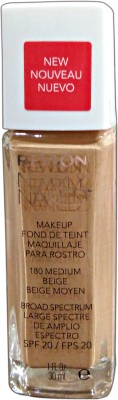 Revlon Nearly Naked Foundation(Medium Beige-180, 30 ml)