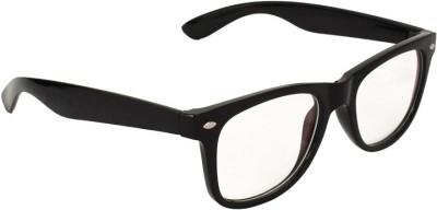 Gansta Gansta GN-3030 Classic black wayfarer with clear lens for driving Wayfarer Sunglasses(Clear)